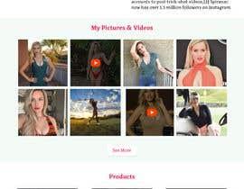 Nro 46 kilpailuun Design Home Screen for Mobile Responsive Website for an Instagram model käyttäjältä soykothosen16030