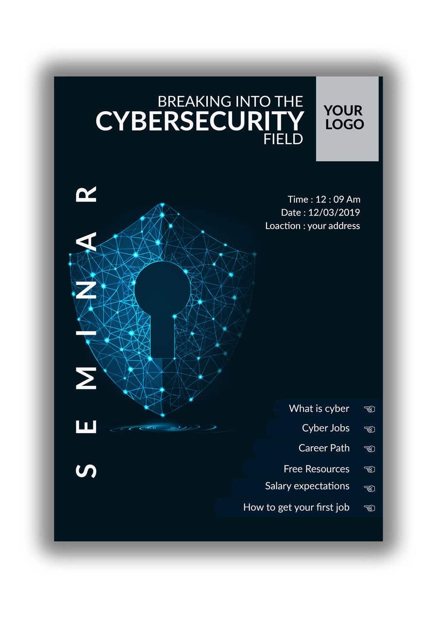 Penyertaan Peraduan #45 untuk Make me a Flyer - Cybersecurity