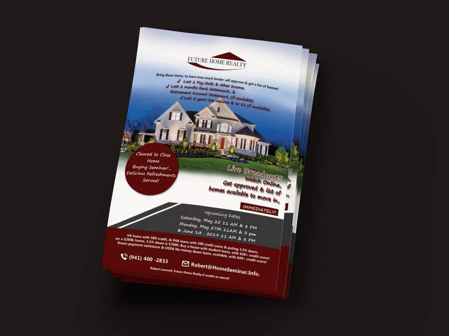 Proposition n°22 du concours build a flyer for upcoming home buyers seminar