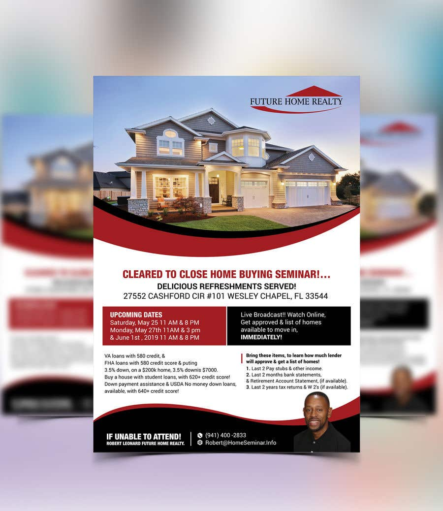 Proposition n°17 du concours build a flyer for upcoming home buyers seminar
