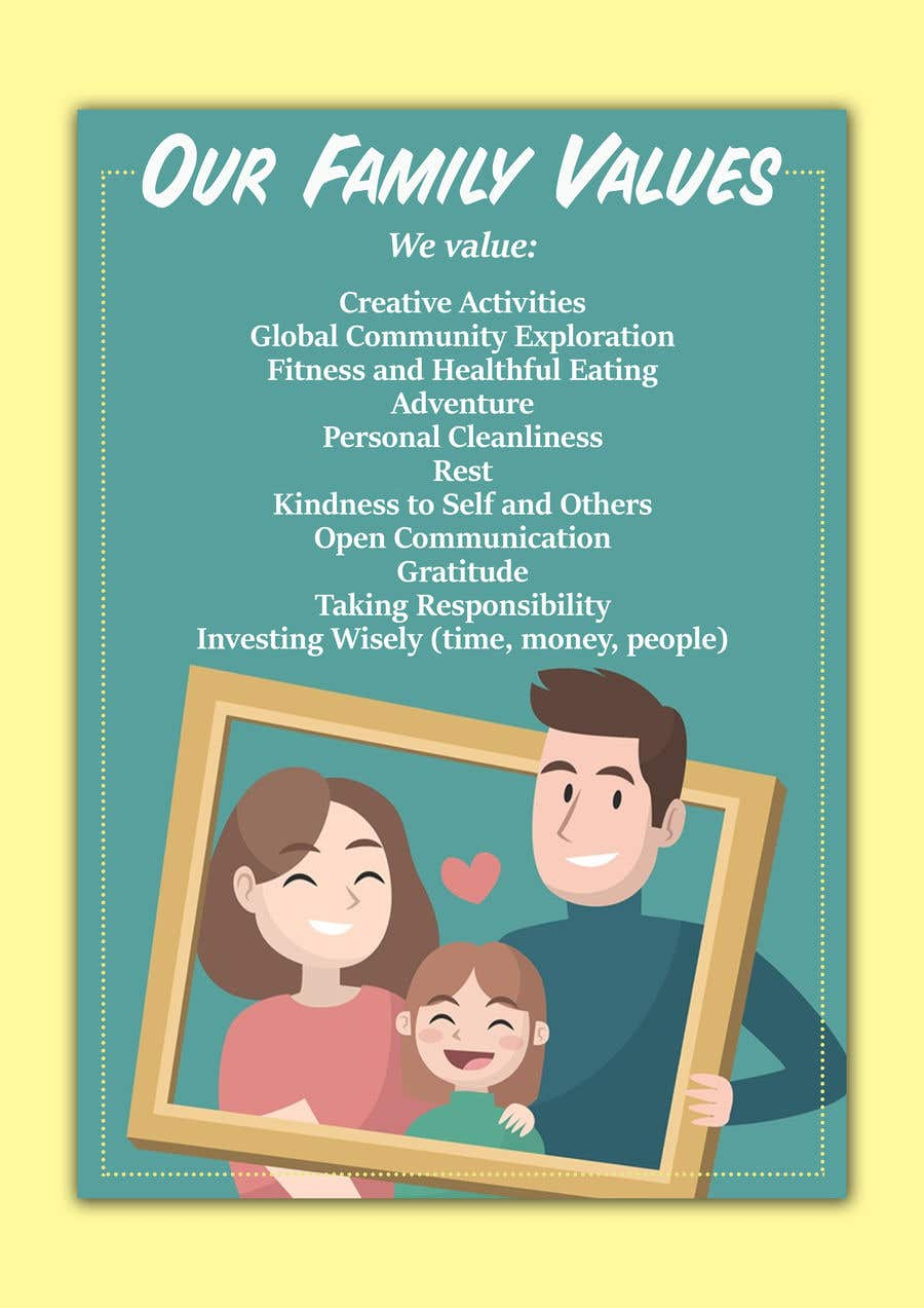 Contest Entry #23 for Family Values Poster