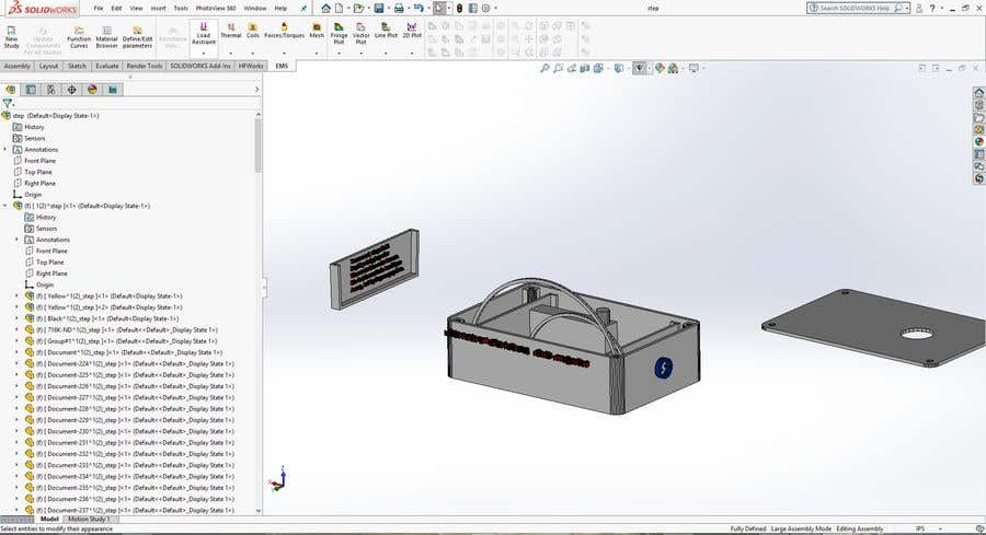 Entry #6 by MedKhebir for Create a STEP file and a 3d PDF