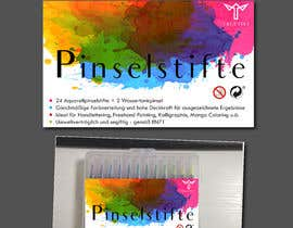 sunnycom tarafından Create a package Front Label for a PP hard plastic packaging of a watercolor brush set için no 8