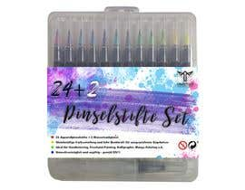 zakinaputri tarafından Create a package Front Label for a PP hard plastic packaging of a watercolor brush set için no 35