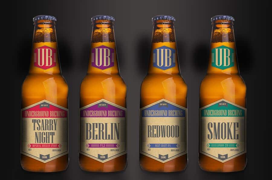 """Intrarea #22 pentru concursul """"Design beer bottle labels"""""""