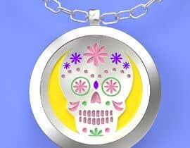 rosales3d tarafından Stainless Steel Jewelry Designs - Sugar Skull Oil Diffuser Locket için no 13