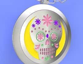 rosales3d tarafından Stainless Steel Jewelry Designs - Sugar Skull Oil Diffuser Locket için no 14