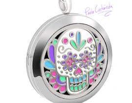 dgpaolacastaneda tarafından Stainless Steel Jewelry Designs - Sugar Skull Oil Diffuser Locket için no 8