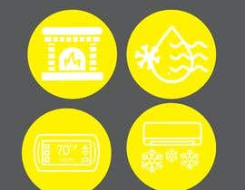 #30 for Need icon for Air, water, heat and thermostats&zoning af abdullahifrit