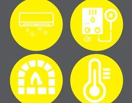 #36 for Need icon for Air, water, heat and thermostats&zoning af abdullahifrit