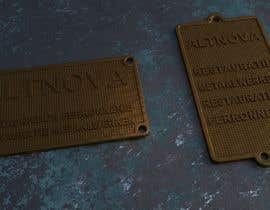 nº 3 pour Create name tags in 3D (STL) with embossed text and special 3D textured background par nazmisevli