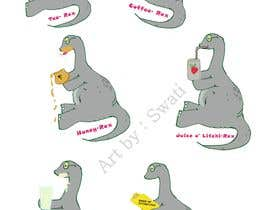 #14 cho 6 Different Cartooned Puny Versions of the same base Dinosaur w/ Names bởi SwatiCh