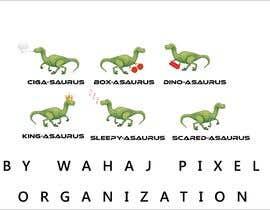 #9 cho 6 Different Cartooned Puny Versions of the same base Dinosaur w/ Names bởi WahajRocky