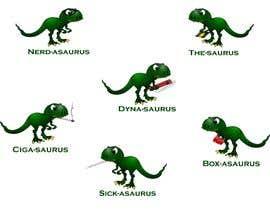 #4 cho 6 Different Cartooned Puny Versions of the same base Dinosaur w/ Names bởi baigmyasrab