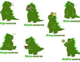 #6 cho 6 Different Cartooned Puny Versions of the same base Dinosaur w/ Names bởi baigmyasrab