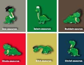 #11 cho 6 Different Cartooned Puny Versions of the same base Dinosaur w/ Names bởi baigmyasrab