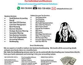 Nro 29 kilpailuun Flyer design for accounting/bookkeeping/Tax practice käyttäjältä Mustfazaman310