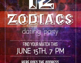 #10 for Design a poster/banner advertising an adult zodiac/astrology themed dating party.   The tone is to be fun, playful.  I am open to receiving different ideas & have no set idea of what I'm looking for. by lauridomm