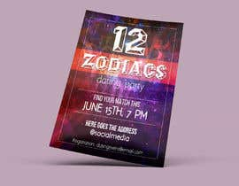 #12 for Design a poster/banner advertising an adult zodiac/astrology themed dating party.   The tone is to be fun, playful.  I am open to receiving different ideas & have no set idea of what I'm looking for. by lauridomm