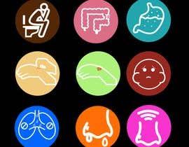 Nro 8 kilpailuun Create icons for android apps (symptoms) käyttäjältä martinvillego