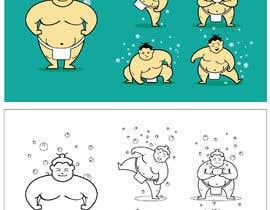 #76 untuk Sumo Cartoon Character oleh kaushalyasenavi