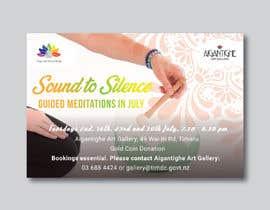Nro 41 kilpailuun Poster for series of meditation classes in an art gallery käyttäjältä MOMODart