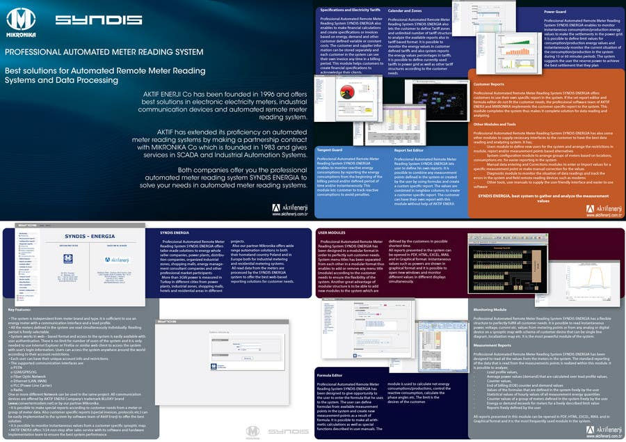 Entri Kontes #12 untukBrochure Design for Telemetry System Software
