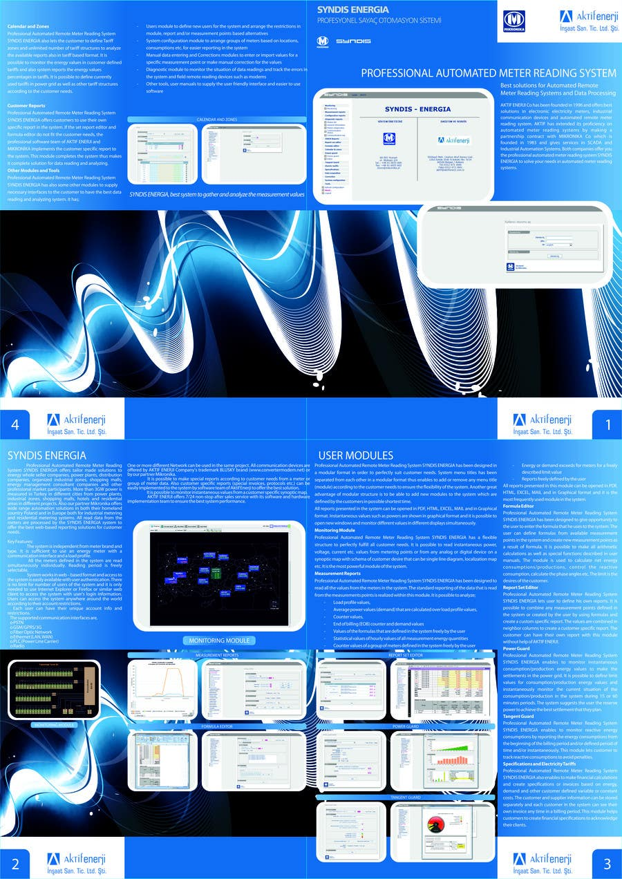 Contest Entry #2 for Brochure Design for Telemetry System Software