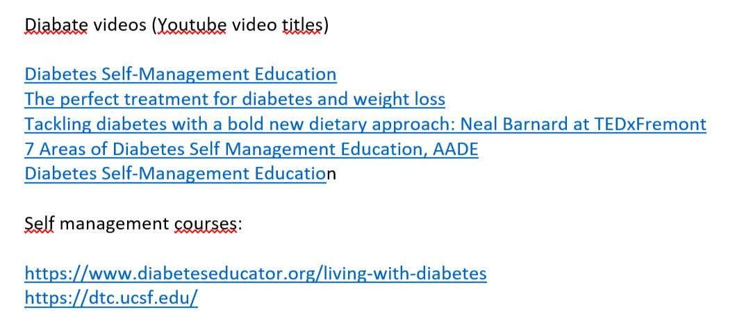 Penyertaan Peraduan #55 untuk I'm looking for someone that do search online and find a video course about diabete .