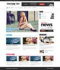 Graphic Design Entri Peraduan #8 for Wordpress custom template