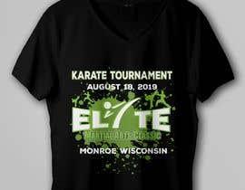 #12 untuk Karate Tournament T-Shirt Design oleh rbcrazy