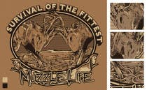 Graphic Design Contest Entry #15 for T-shirt Design for Muzzle Life - Featuring two Buck Deer's in Battle!