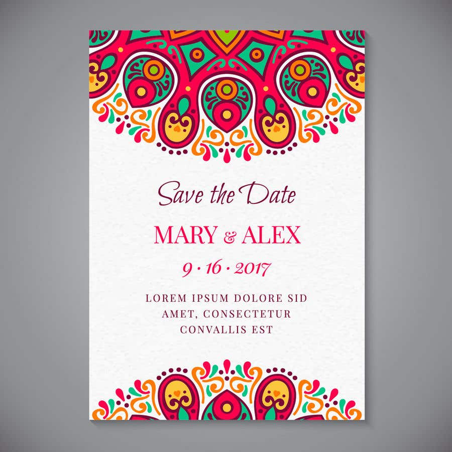 Entry 14 By Munzalinanwar For Get Me A Wedding Invitation