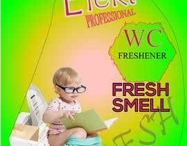#9 cho WC Freshener with baby on toilet - label design bởi GraphicsWorld4u