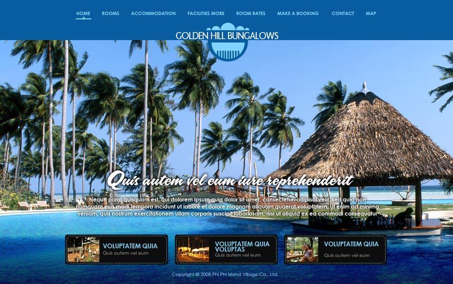Inscrição nº                                         1                                      do Concurso para                                         Website Design for Golden Hill Bungalows Hotel