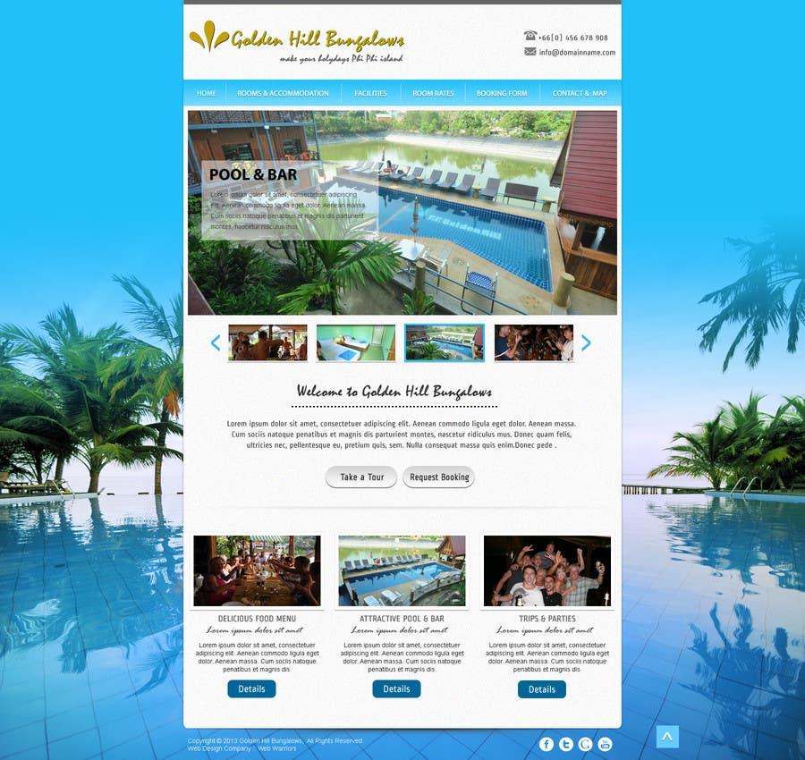 Penyertaan Peraduan #                                        4                                      untuk                                         Website Design for Golden Hill Bungalows Hotel