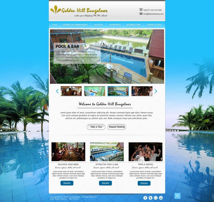 Kilpailutyö #                                        5                                      kilpailussa                                         Website Design for Golden Hill Bungalows Hotel
