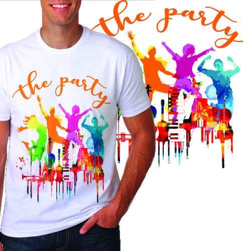 """Kilpailutyö #91 kilpailussa T-shirt design """"The Party"""""""