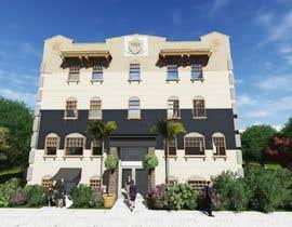 Nro 24 kilpailuun Exterior Render - Hotel käyttäjältä hamza001ghz