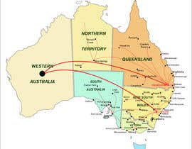 #4 for URGENT! Create a map of Australia showing company reach by saurov2012urov