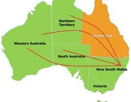 #3 for URGENT! Create a map of Australia showing company reach by Namanrana16
