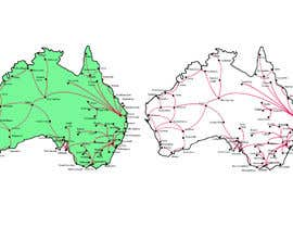 #5 for URGENT! Create a map of Australia showing company reach by Sultana76
