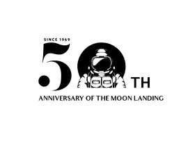 #16 for Logo for 50th anniversary of moon landing by sununes