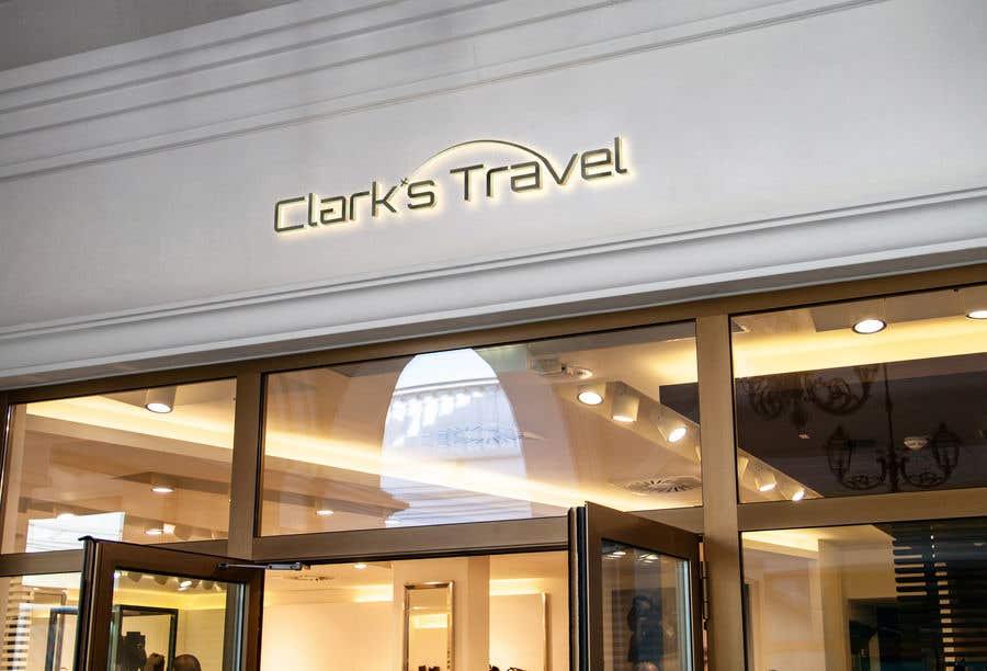 Penyertaan Peraduan #2 untuk Clark's Travel Logo