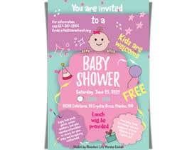 #44 untuk Baby shower flyer oleh LaGogga
