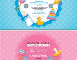 #80 untuk Baby shower flyer oleh FarooqGraphics