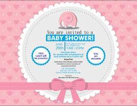 #81 untuk Baby shower flyer oleh FarooqGraphics