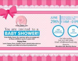 #82 untuk Baby shower flyer oleh FarooqGraphics