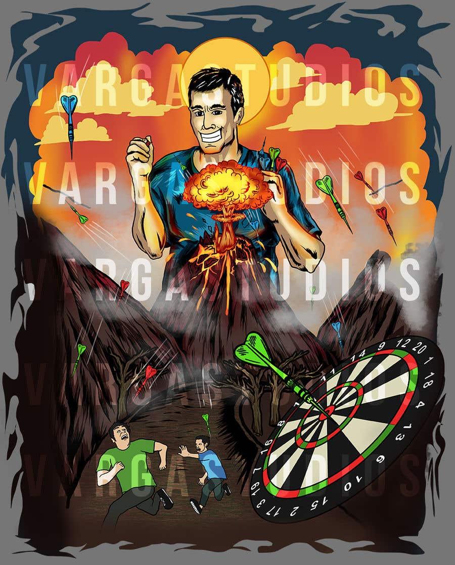 Kilpailutyö #16 kilpailussa Volcano Illustration for Dart Shirt