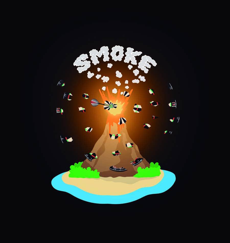 Kilpailutyö #27 kilpailussa Volcano Illustration for Dart Shirt